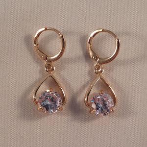 14d426fa7 Jewelry - 18K Yellow Gold Topaz Zircon Water Drop Earrings